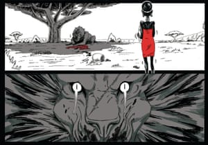 A detail from Miseyieki by Shangomola Edunjobi, the first British artist to feature in Japan's international manga award.