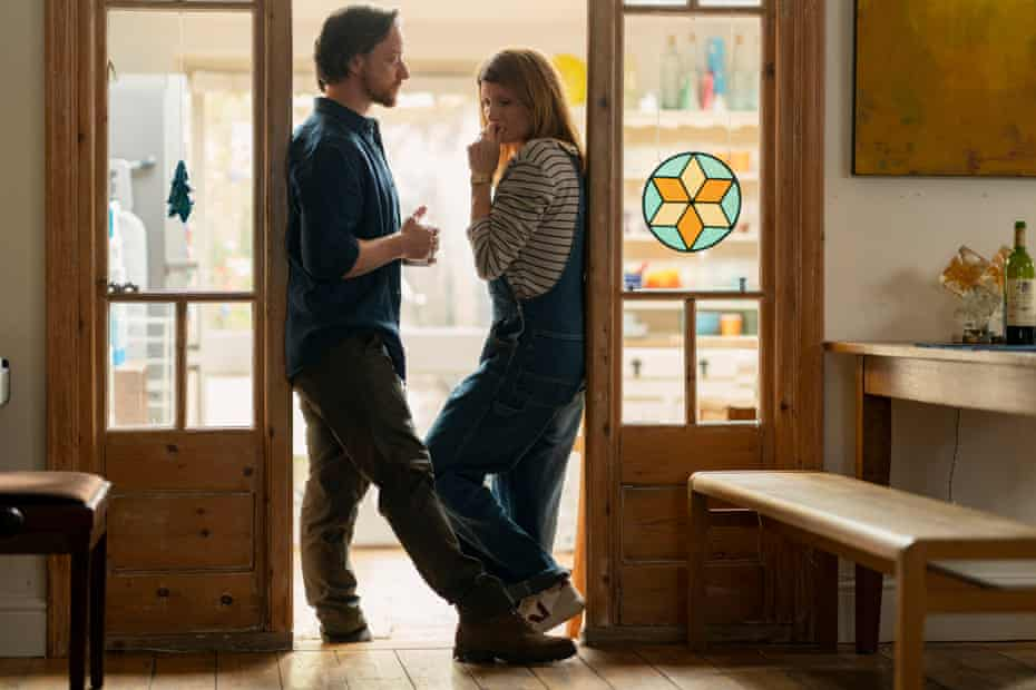 Sharon Horgan and James McAvoy in Together.