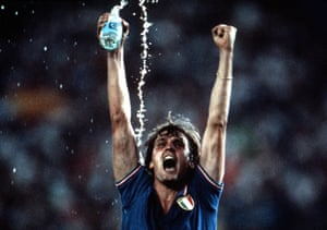 Marco Tardelli celebrates after Italy's 3-1 win over West Germany in the 1982 World Cup final.