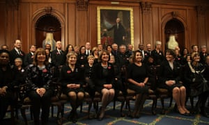 House Democrats wear black at the Capitol prior to Trump's first State of the Union address Tuesday in Washington DC.