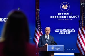 Joe Biden delivers remarks at The Queen in Wilmington, Delaware, on November 10, 2020.