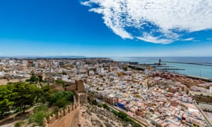 Panoramic cityscape of Almeria (Almería) Spain.