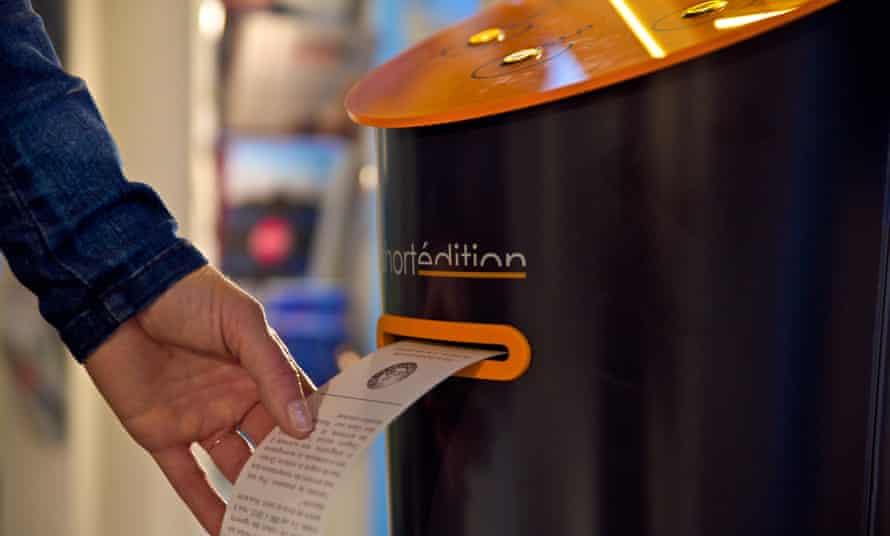 A short story dispenser in Grenoble