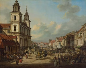 Church of the Holy Cross. All 22 of Bellotto's street scenes survived the war.