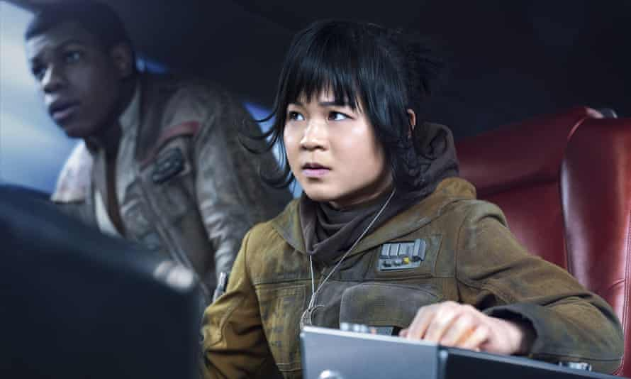 Kelly Marie Tran and John Boyega in Star Wars: The Last Jedi.