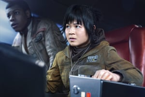 Target … Kelly Marie Tran as Rose with John Boyega's Finn in Star Wars: The Last Jedi.