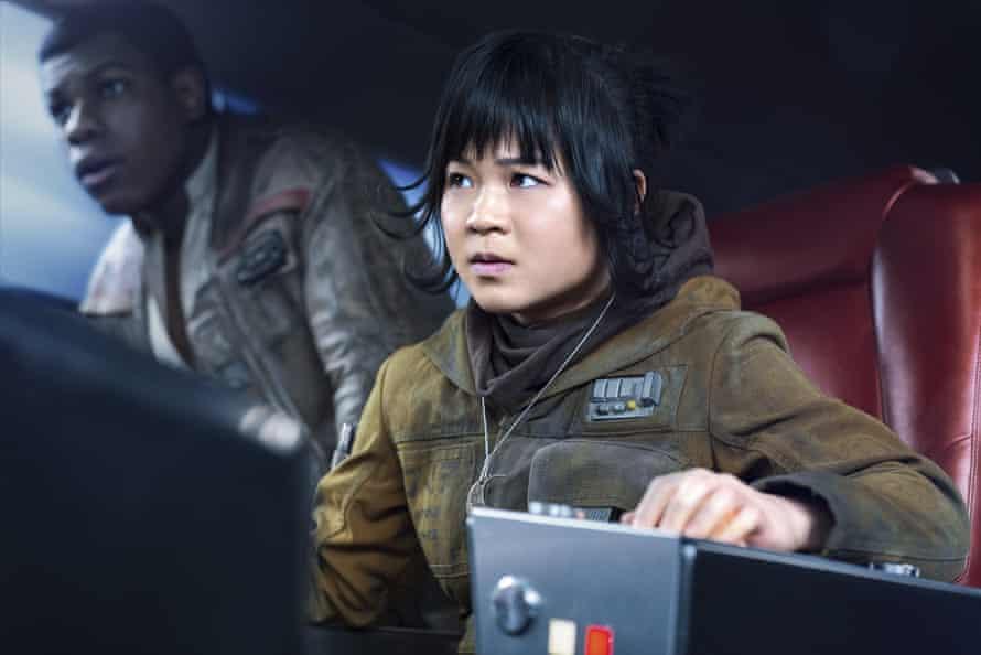Target … Kelly Marie Tran as Rose with John Boyega's Finn in Star Wars: The Last Jedi.