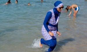 Woman in burkini
