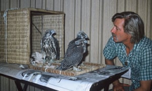 Falconry was just one of Peter Whitehead's many areas of interest