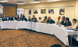 United Nations agencies' heads attend the UN's launch of the 2017 Humanitarian Response Plan for Nigeria's northeast region in Abuja, Nigeria December 2, 2016.
