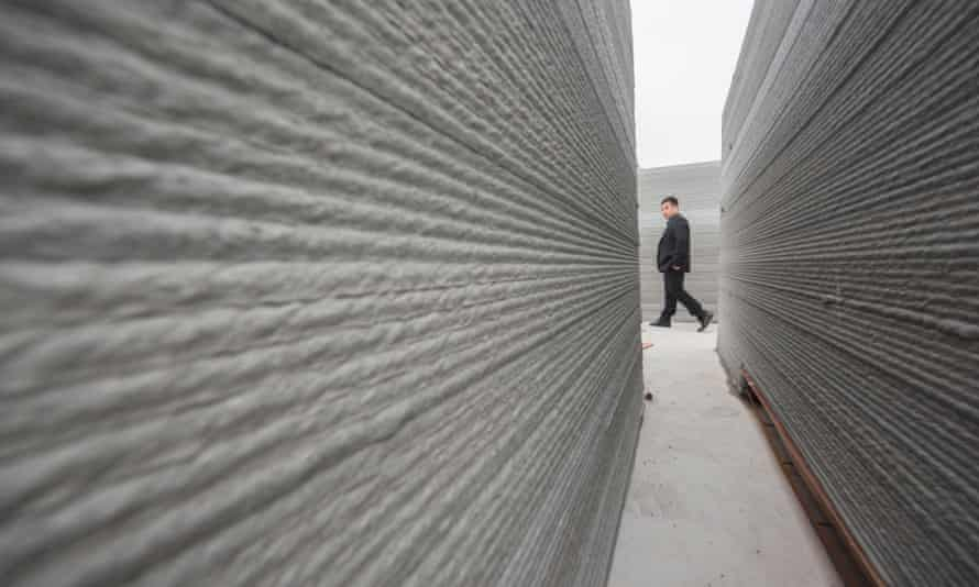 3D printed houses with recycled concrete material. Cities can generate revenue by 'upcycling' concrete