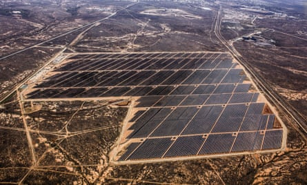 An aerial view of the Broken Hill solar plant, New South Wales, Australia. New South Wales has unveiled plans to invest in renewables.