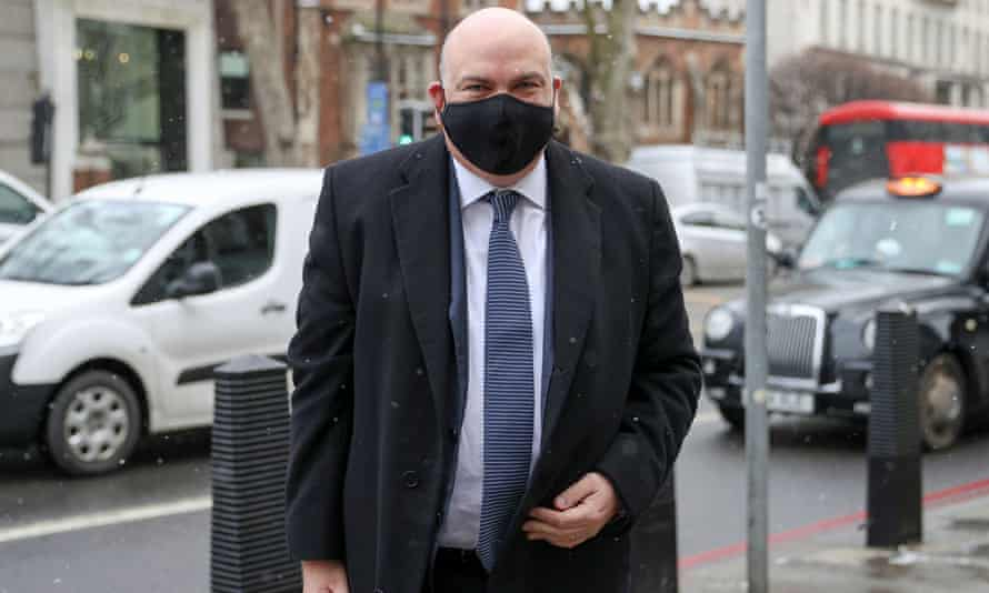 Mike Lynch arrives at Westminster magistrates court, in London.