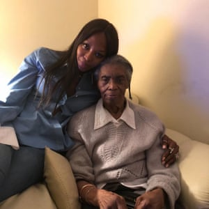 Naomi Campbell with her grandma Ruby Louise Campbell Russell.