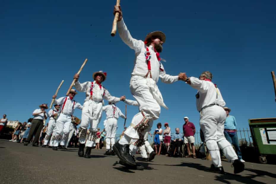 Morris Dancers perform at Broadstairs Folk Week.