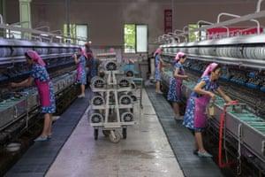 Women work in factory