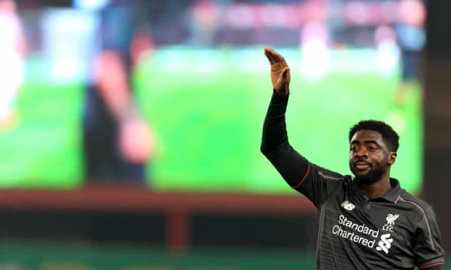 Liverpool's Kolo Touré  during the Capital One Cup semi-final, first leg against Stoke