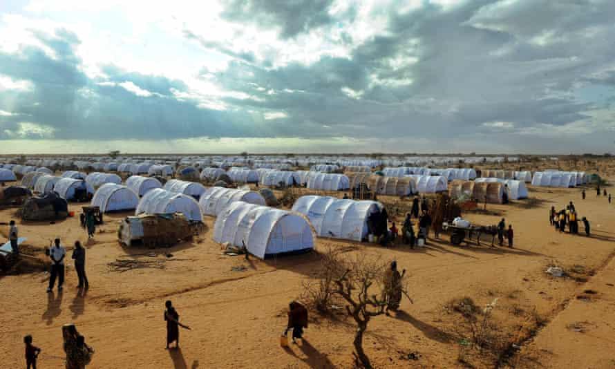 Somali refugees in Dadaab refugee camp  in 2011