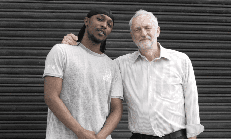 JME and Jeremy Corbyn in May 2017