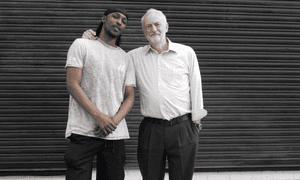 Jeremy Corbyn with JME.