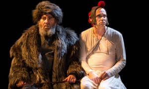 Antony Sher as King Lear and Graham Turner as the Fool in the RSC's 2016 production in Stratford.