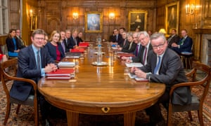 Members of Theresa May's cabinet pause during its eight-hour meeting on Thursday.
