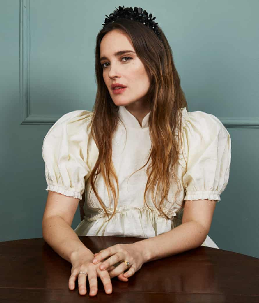 'Growing up, it was never just chit-chat around the dinner table': Jess Mills wears dress and headband by Simone Rocha, matchesfashion.com.