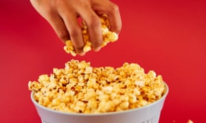 Popcorn can be healthier than other snacks, but as one expert pointed out, it's rather moreish, so portion control is important.