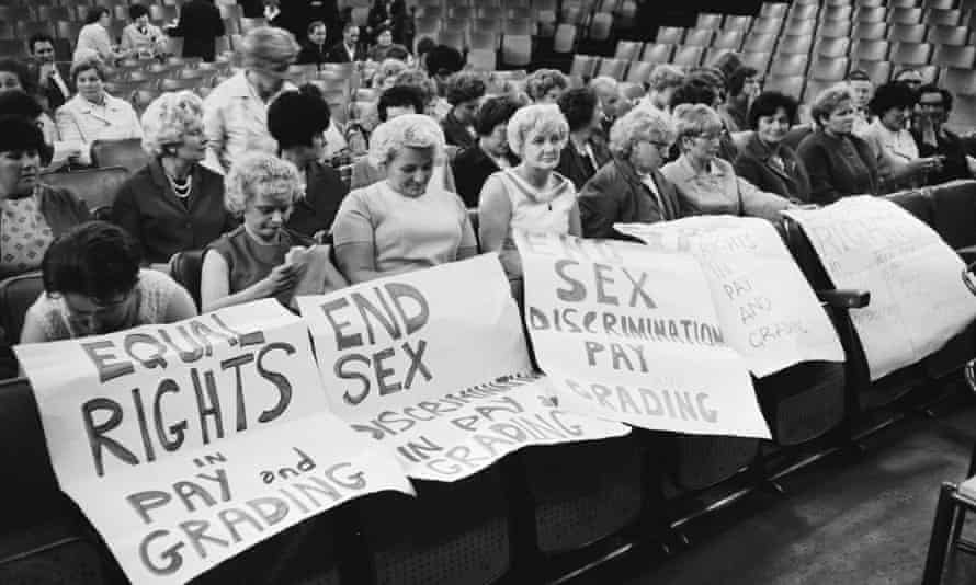 The striking female machinists from the Ford Dagenham plant who fought for equal pay in 1968.
