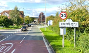 The market town of Craven Arms lies between Ludlow and Shrewsbury.