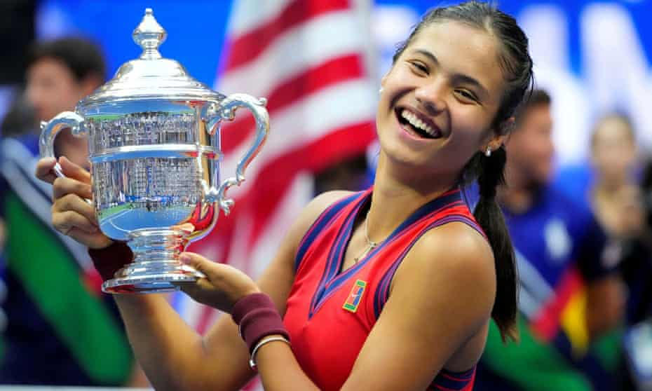 Emma Raducanu won the US Open in only her second grand slam tournament appearance