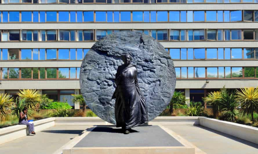 The memorial to Mary Seacole in the grounds of St Thomas' hospital in London