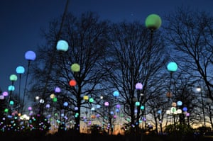 The Canary Wharf Winter Lights exhibition brings some welcome light and brightens up dark London days