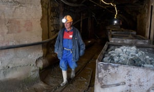 Miner Agim Keta (69,) walks inside a chromium mine in Bulqize on 23 September 2020.
