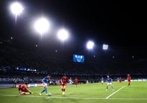 Napoli on the attack.