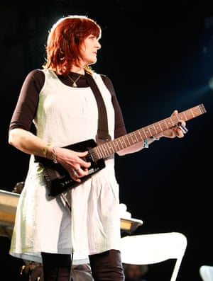 'Wreckers of civilisation' … Tutti performs with Throbbing Gristle at Coachella 2009.