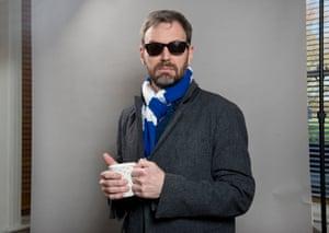 Tim Dowling wearing dark glasses in winter