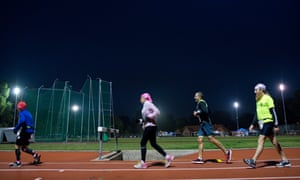 Many competitors are walking, often with difficulty, by the time darkness falls.