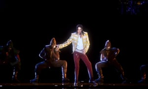 A holographic image of Michael Jackson performing at the 2014 Billboard music awards.