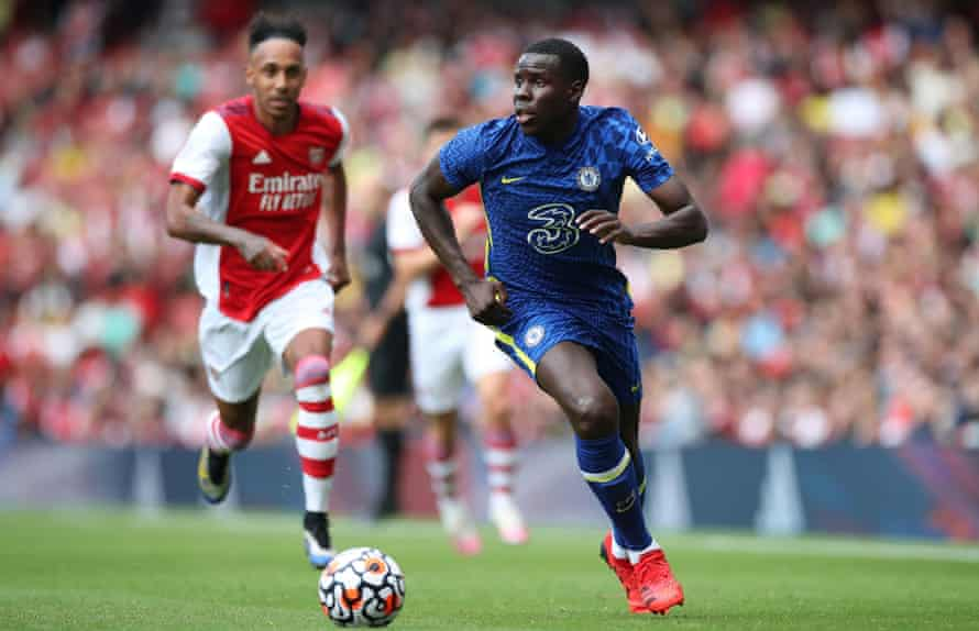 Kurt Zouma, in action here for Chelsea against Arsenal last Sunday, does not want to join West Ham.