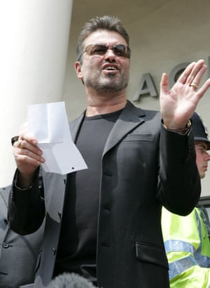 Leaving Brent magistrates court in London on 8 June 2007 after receiving a two-year driving ban and 100 hours community service.