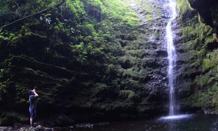 Waterfall in Samoa.