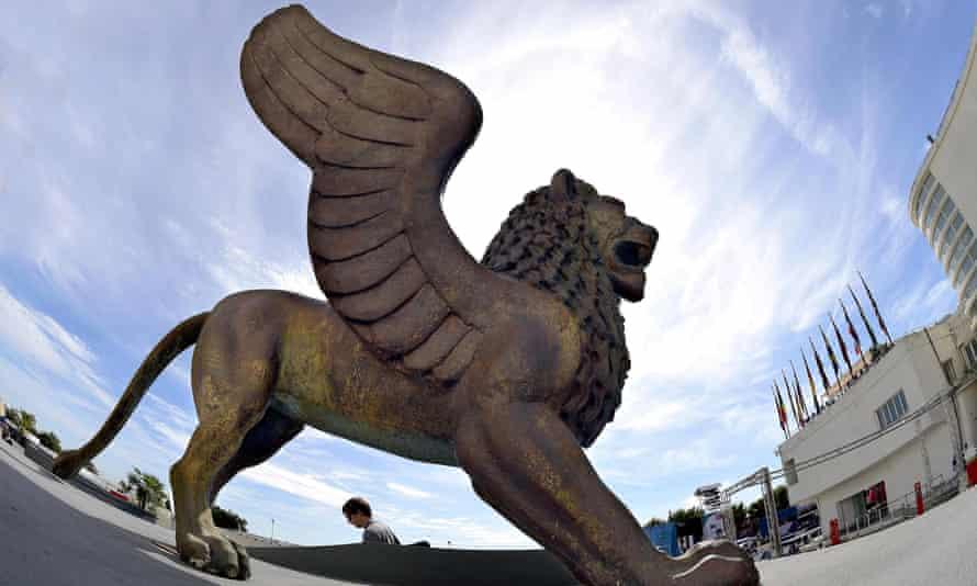 Hopeful … the golden lion of the Venice film festival.