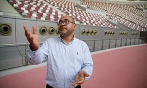 Dr Saud Abdul Ghani, at the Khalifa International Stadium in Doha