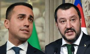 Luigi Di Maio, left, and Matteo Salvini