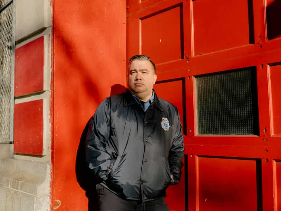Anthony Almojera, an emergency medical services (EMS) lieutenant and union leader with the New York fire department, at the FDNY EMS Station 40 in Sunset Park, Brooklyn.