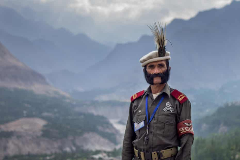 Security guard at Baltit Fort in the Hunza valley, Pakistan