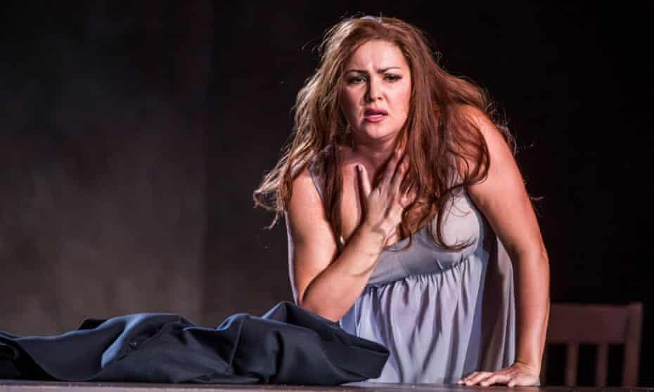 Anna Netrebko as Donna Leonora in La Forza Del Destino at the Royal Opera House, London.