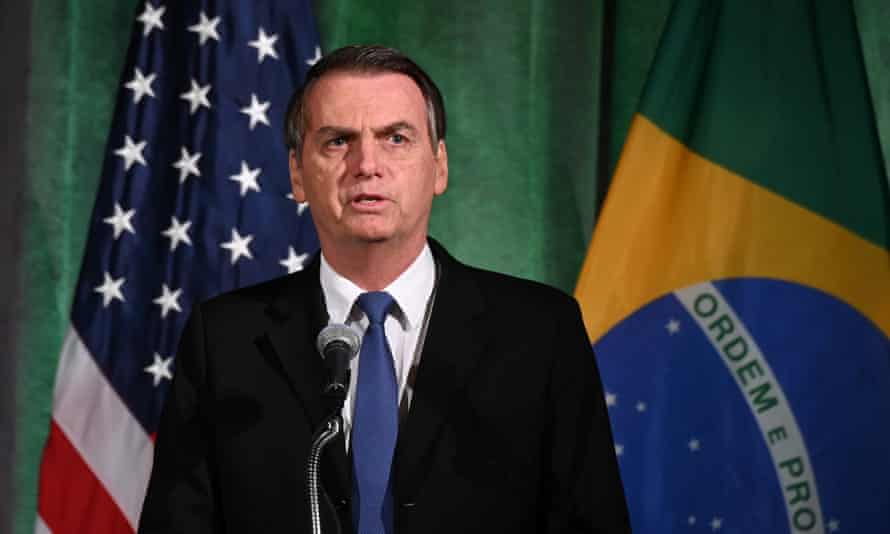 President Jair Bolsonaro of Brazil: 'We do agree with President Trump's decision or proposal on the wall.'