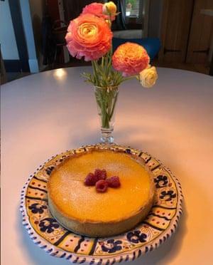 Sophie's lemon custard tart